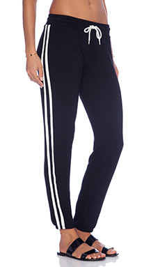 MONROW Athletic Track Sweatpant in Black