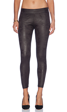 MONROW Soft Leather Basic Leggings in Black