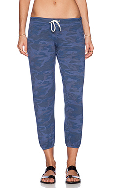 MONROW Camo Vintage Sweatpants in Jean Blue