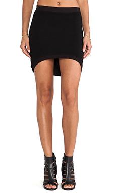 MONROW Basics Curve Skirt in Black