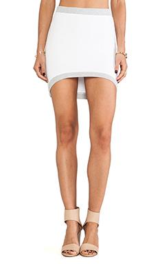 MONROW Basics Curve Skirt in White