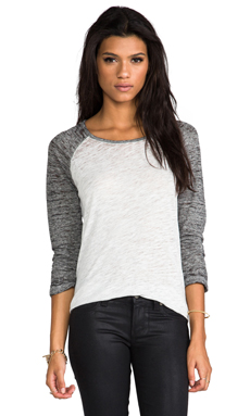MONROW Burn Out Rock Top in White