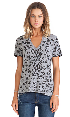 T-SHIRT MANCHES COURTES IMPRIMÉ ANIMAL OVERSIZED LEOPARD PRINT
