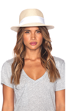 Hat Attack Fine Braid Fedora in White Twill