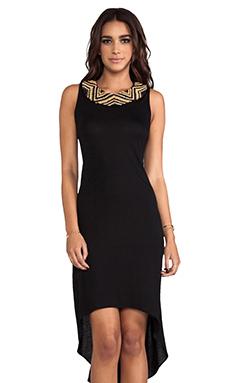 Haute Hippie High Low Embellished Dress in Black