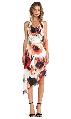 Haute Hippie Asymmetrical Dress in Vintage Rose Multi