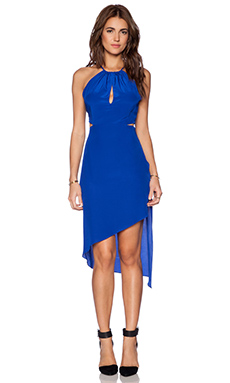 Haute Hippie Twist Back Dress in True Blue
