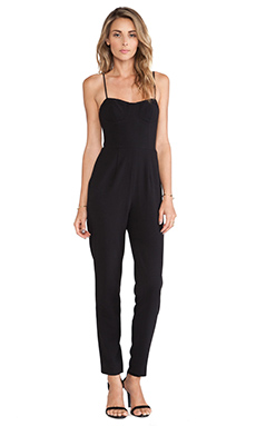 Haute Hippie Bustier Onsie in Black