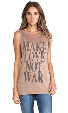 Haute Hippie Make Love Not War Muscle Tee in Suntan