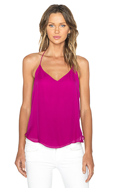 Haute Hippie V-Neck Halter in Magenta