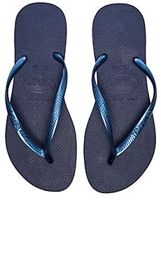 Havaianas Slim Flip Flop in Navy Blue