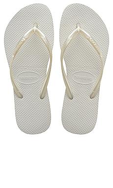 Havaianas Slim Flip Flop in White