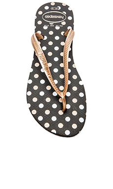 Havaianas Slim Fresh Flip Flop in Black & Rose