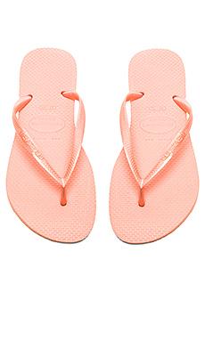 Havaianas Slim Flip Flop in Light Pink