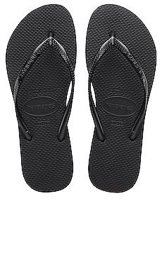 Havaianas Slim Flip Flop in Black