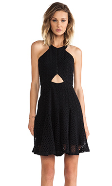 Hunter Bell Laurie Dress in Black Lace