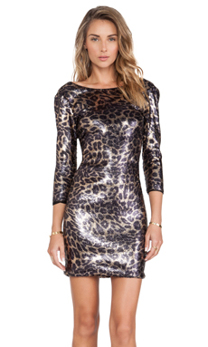 Hunter Bell Nikki Dress in Leopard