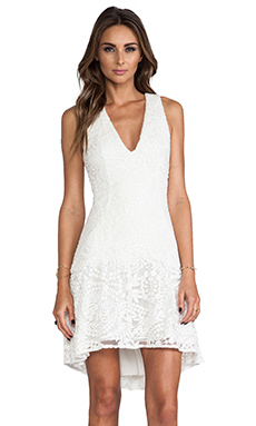 Hunter Bell Eva Dress in Ivory Lace