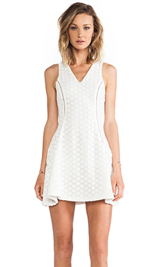 Hunter Bell Amanda Dress in White Lace