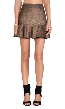 Hunter Bell Gored Skirt in Bronze