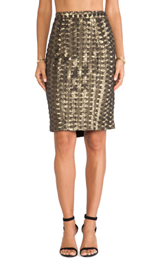 Hunter Bell Brody Skirt in Antique Gold