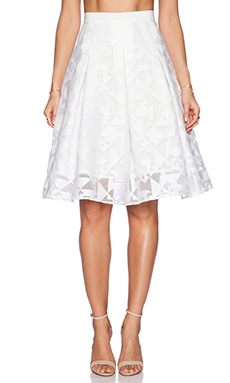 Hunter Bell Maddy Skirt in White Tap