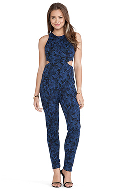 Hunter Bell Katie Jumpsuit in Navy Stitch