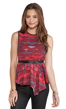Hunter Bell Irene Blouse in Red Marble