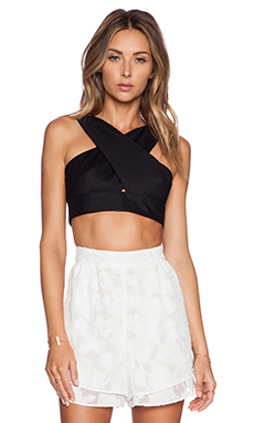 Hunter Bell Marcy Crop Top in Black