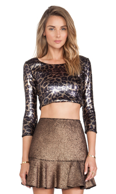 Hunter Bell Kramer Top in Leopard