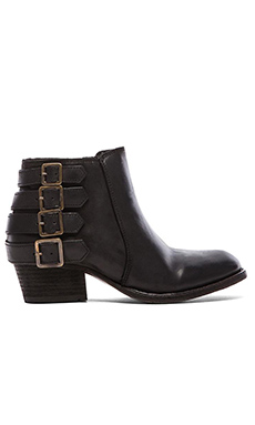 H by Hudson Encke Bootie in Calf Coal