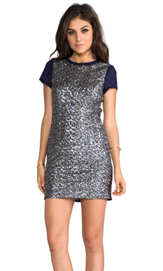 heartLoom Mallory Sequin Dress in Midnight