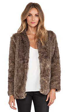 heartLoom Tess Faux Fur Coat in Sable