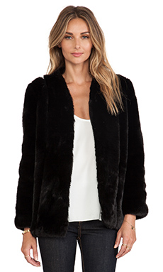 heartLoom Tess Faux Fur Coat in Black