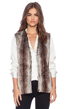 heartLoom Lizanne Faux Fur Vest in Natural
