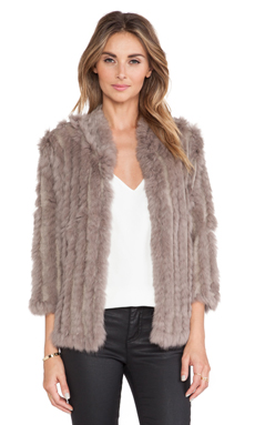 heartLoom Rosa Rabbit Fur Jacket in Mink