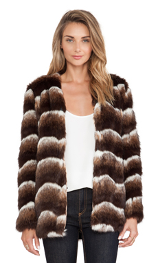 heartLoom Tess Faux Fur Jacket in Coco