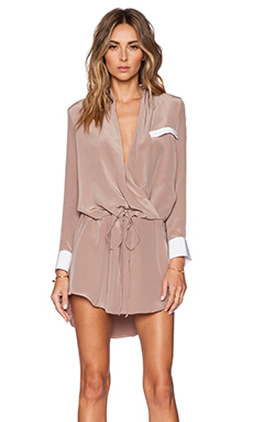 Helena Quinn Danielle Mini Dress in Mauve & White
