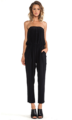 Helena Quinn Strapless Jumpsuit in Black
