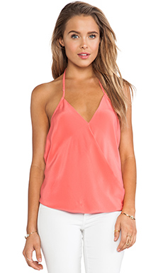 Helena Quinn Draped Tank in Pink