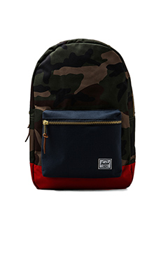 Herschel Supply Co. Settlement Backpack in Woodland Camo/Navy/Red