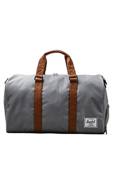 Herschel Supply Co. Novel Duffle in Grey/Tan
