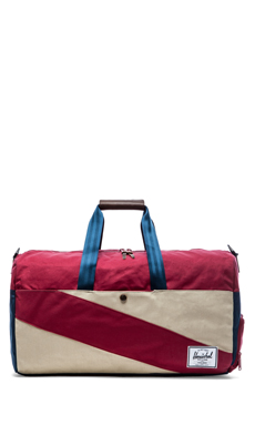 Herschel Supply Co. Studio Collection Lonsdale Duffle in Bone &Navy & Burgundy