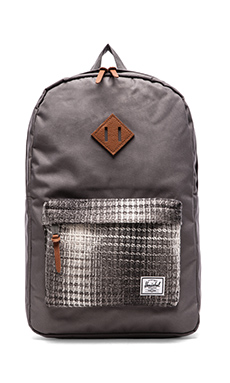 Herschel Supply Co. Cabin Collection Heritage Backpack in Grey/ Knit