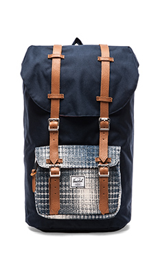 Herschel Supply Co. Cabin Collection Little America Backpack in Navy/ Knit