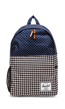 Herschel Supply Co. Jasper Backpack in Houndstooth/ Navy Polka Dot