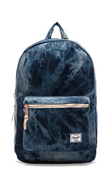 Herschel Supply Co. Select Collection Settlement Backpack in Acid Washed Denim