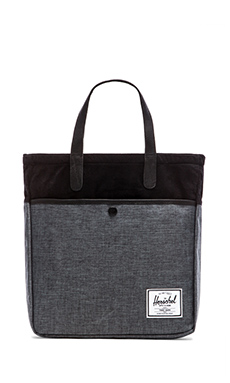 Herschel Supply Co. Brohm Tote in Black Crosshatch & Black