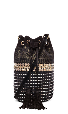 HiPANEMA x AMENAPiH Tika Bucket Bag in Black