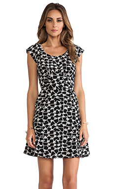 harlyn Cut-Out Dress in Floral Geo